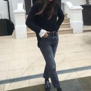 Zara Premium High Rise Ankle Jeans Gray
